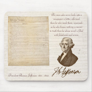 T. Jefferson: Truth & Newspapers - Mousepad