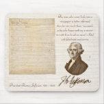 T. Jefferson: Verdad y periódicos - Mousepad Alfombrilla De Ratones