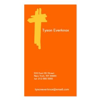 T Letter Alphabet Business Card Orange