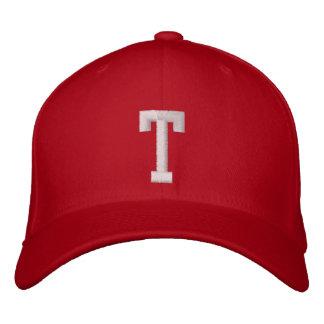 T Letter Embroidered Baseball Caps