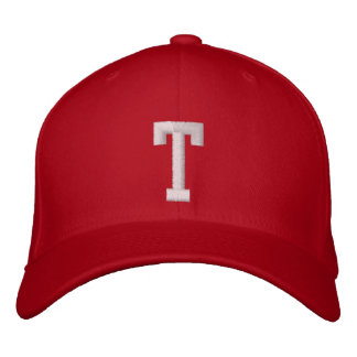 T Letter Embroidered Hat