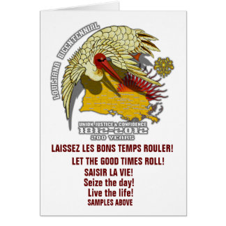 T-Louisiana Bicentennial 1812-2012 Card