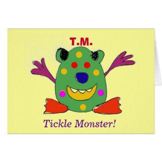 ¡T M monstruo de las cosquillas Tarjeta de feli