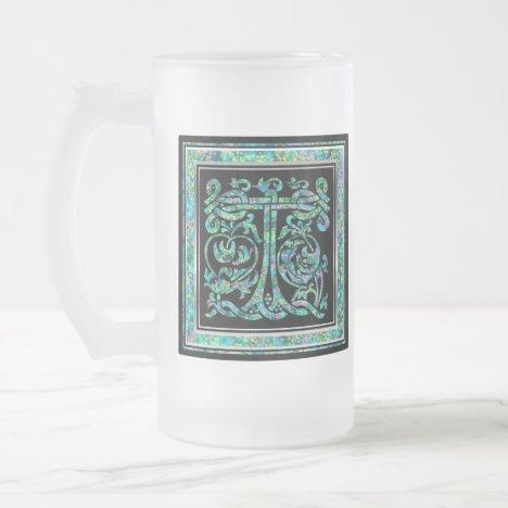 """T """"Masselle Blue"""" Custom Monogram Mugs"""