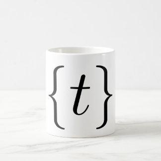 """T matemático"" fijó (el negro) Taza De Café"