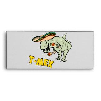 T-Mex T-Rex Mexican Tyrannosaurus Dinosaur Envelope