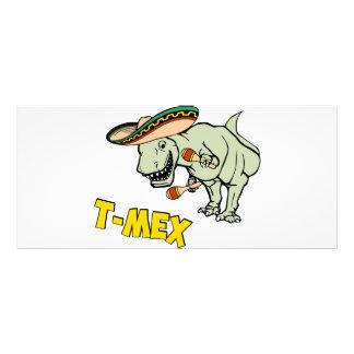 T-Mex T-Rex Mexican Tyrannosaurus Dinosaur Rack Card