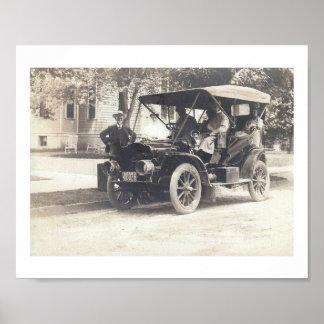 T modelo, 1908, vintage del automóvil de New Póster
