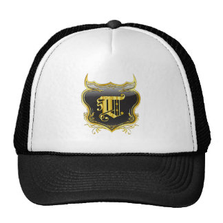 T Monogram Customize Edit Change Background Color Trucker Hat