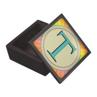 T MONOGRAM LETTER PREMIUM JEWELRY BOX