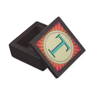 T MONOGRAM LETTER PREMIUM KEEPSAKE BOXES