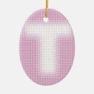 T Monogram.pdf Ceramic Ornament