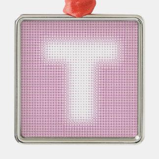 T Monogram.pdf Metal Ornament