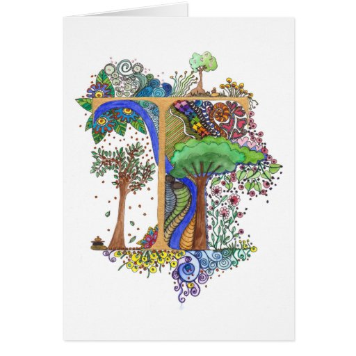 T painted greeting cards