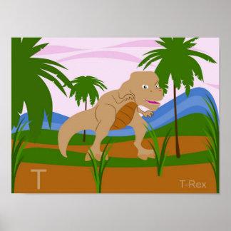 T para el poster de T-rex