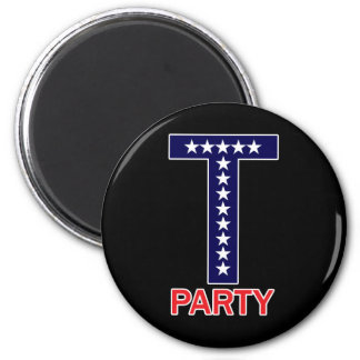 T Party 2 Inch Round Magnet