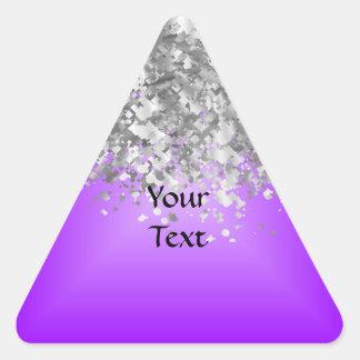 t pegatina triangular