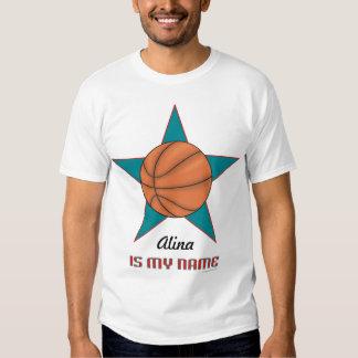 T personalizado del baloncesto del niño… - playera
