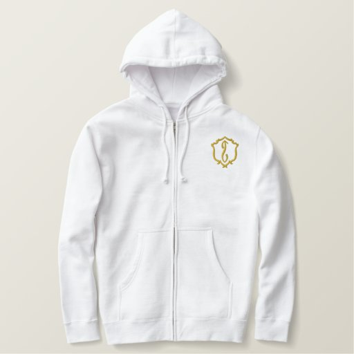T.R.I.B.E. Men's embroided Zipper Hood Embroidered Hoodie