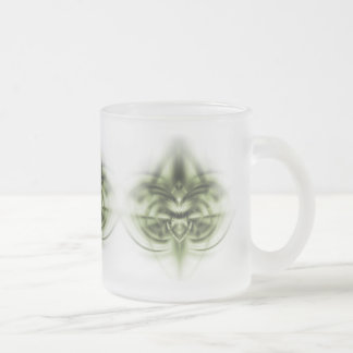 T-rex 1 frosted glass coffee mug