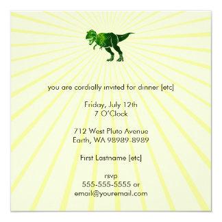 T-Rex 5.25x5.25 Square Paper Invitation Card