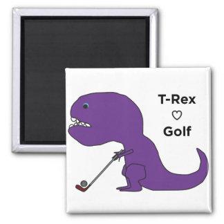 T-Rex ama golf Imán Cuadrado