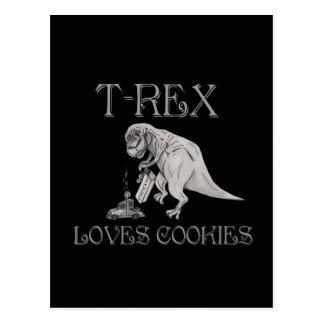 T-Rex ama las galletas Postales