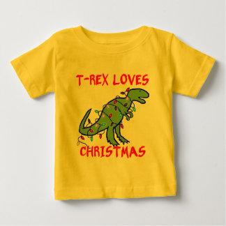 T-Rex ama navidad Playera