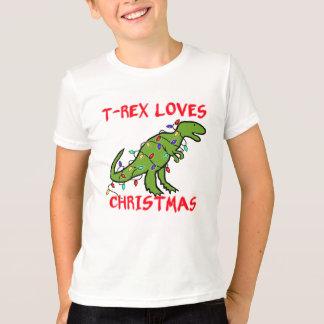T-Rex ama navidad Poleras