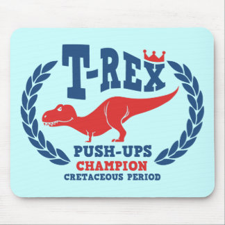 T-Rex ama pectorales Mousepad