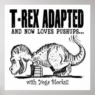 T-Rex ama pectorales Poster