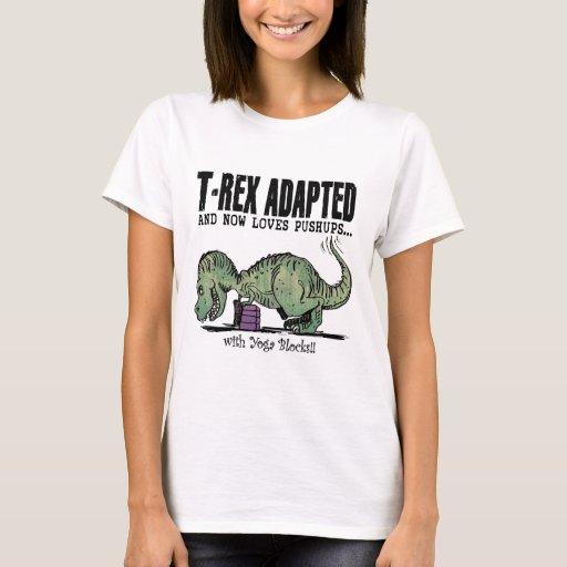 T-Rex ama pectorales Playera