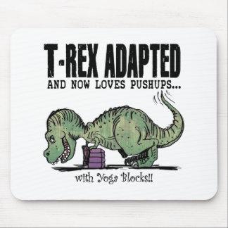 T-Rex ama pectorales Alfombrilla De Ratón