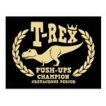 T-Rex ama pectorales Tarjetas Postales