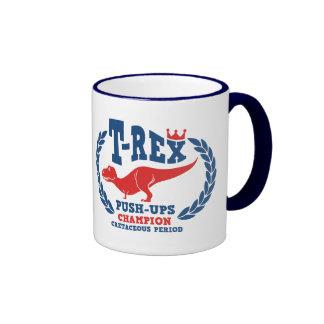 T-Rex ama pectorales Tazas De Café