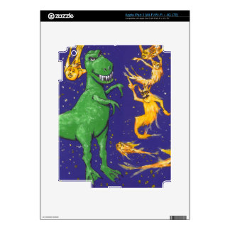 T-Rex and Comets iPad 3 Decal