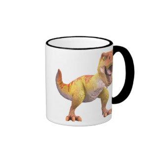 T-Rex asustadizo Disney Taza De Dos Colores