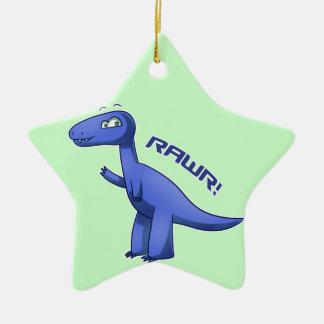 T-Rex azul Adorno De Cerámica En Forma De Estrella