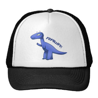 T-Rex azul Gorras De Camionero