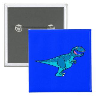 T-rex azul pin cuadrada 5 cm