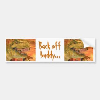 T-Rex Back Off Sticker Car Bumper Sticker