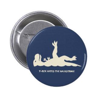 T-Rex Backstroke 2 Inch Round Button