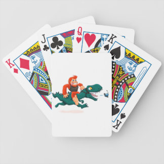 T rex bigfoot-cartoon t rex-cartoon bigfoot bicycle playing cards