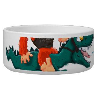 T rex bigfoot-cartoon t rex-cartoon bigfoot bowl