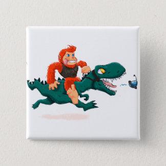 T rex bigfoot-cartoon t rex-cartoon bigfoot button