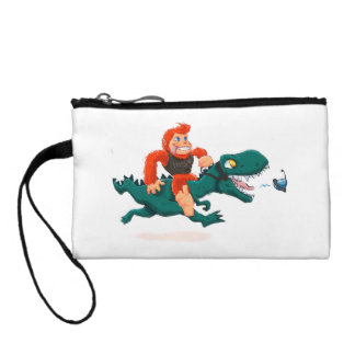 T rex bigfoot-cartoon t rex-cartoon bigfoot coin wallet