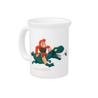 T rex bigfoot-cartoon t rex-cartoon bigfoot drink pitcher