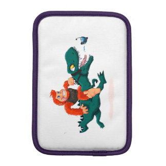 T rex bigfoot-cartoon t rex-cartoon bigfoot iPad mini sleeve