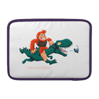 T rex bigfoot-cartoon t rex-cartoon bigfoot MacBook air sleeve