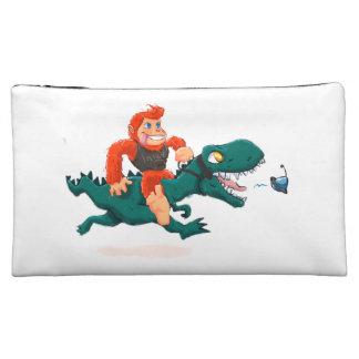 T rex bigfoot-cartoon t rex-cartoon bigfoot makeup bag
